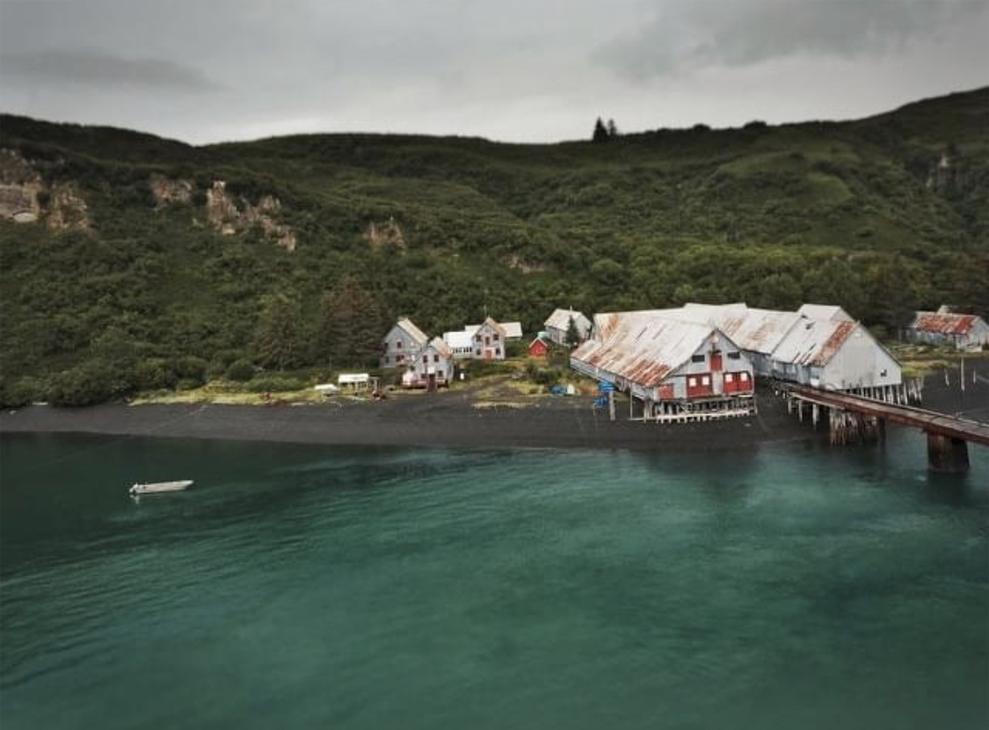 snug harbor outpost aerial view