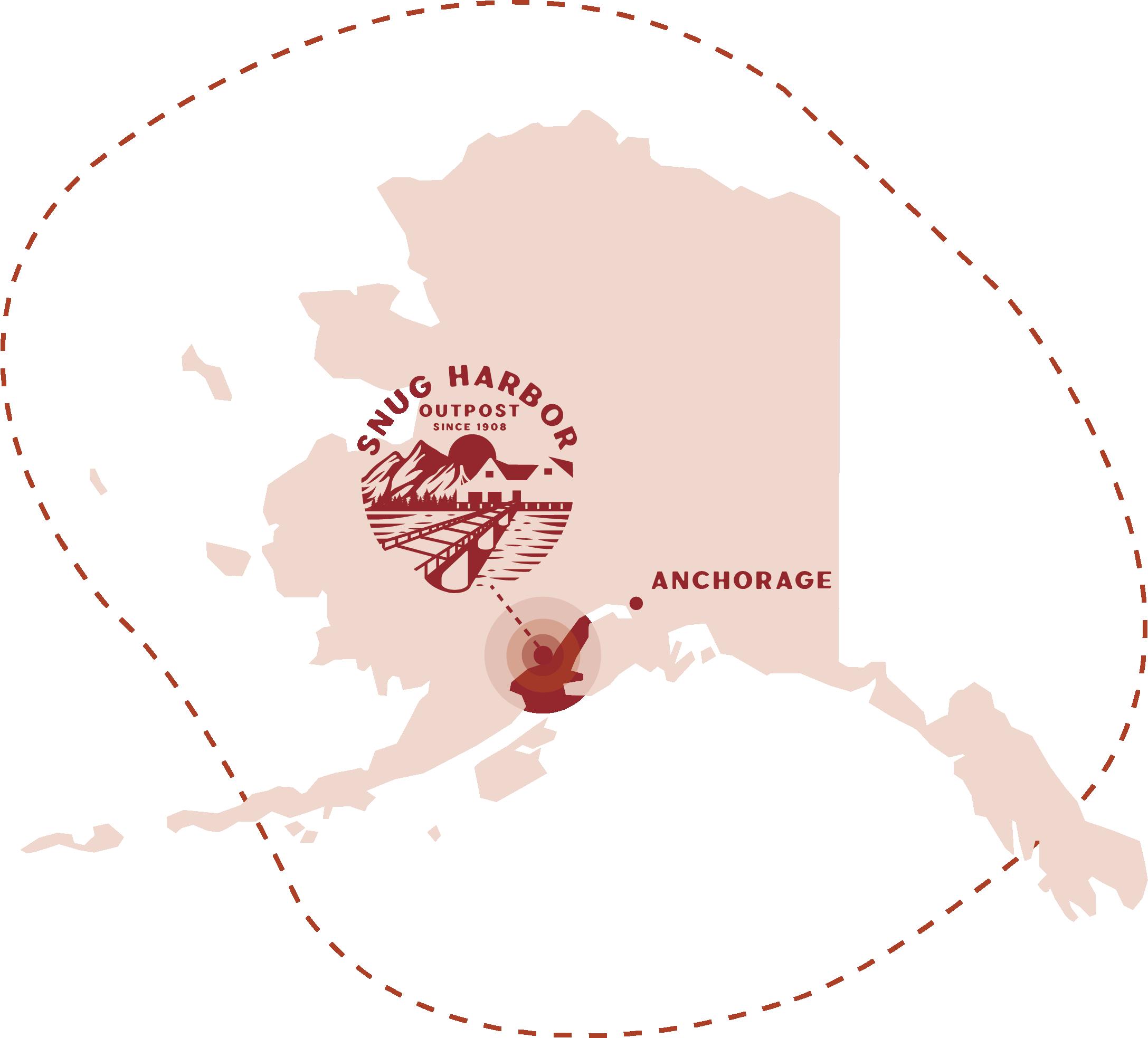 snug harbor outpost logo map